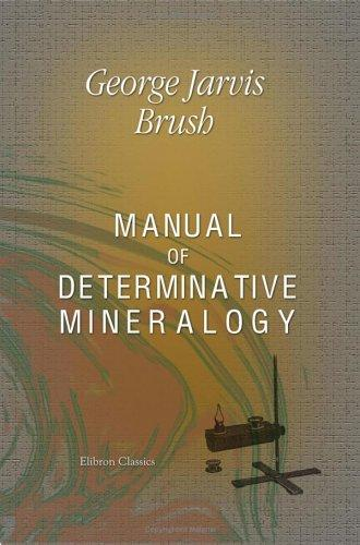 Manual of Determinative Mineralogy