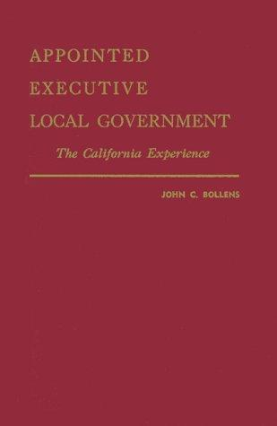 Download Appointed Executive Local Government