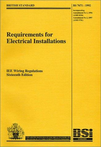Download Requirements for Electrical Installations BS 7671