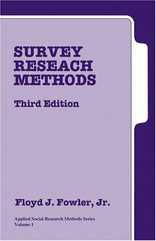 Download Survey Research Methods (Applied Social Research Methods)