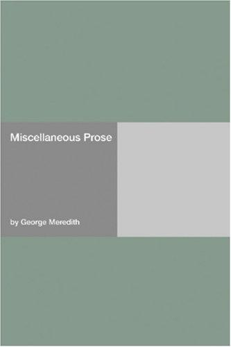 Download Miscellaneous Prose