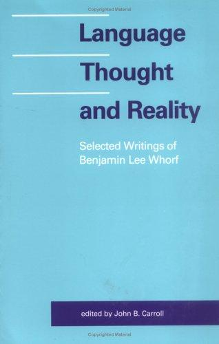 Download Language, Thought, and Reality