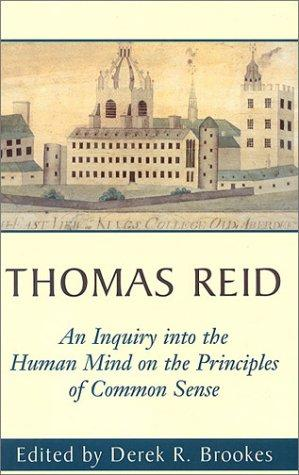 Download An inquiry into the human mind on the principles of common sense