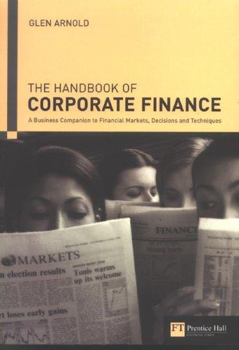 Download Handbook of corporate finance