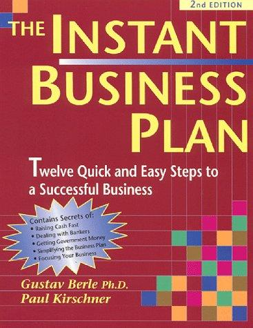 The instant business plan book
