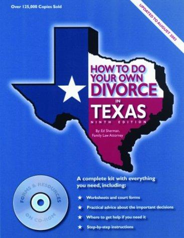 How to do your own divorce in Texas