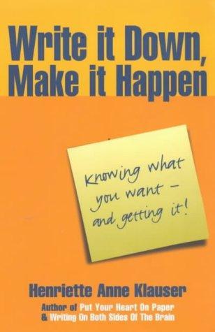 Download Write It Down, Make It Happen