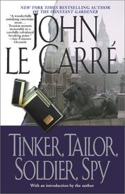 Book Cover: 'Tinker, Tailor, Soldier, Spy' by John Le Carre