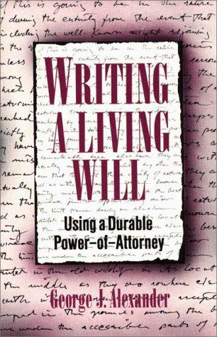 Download Writing a Living Will