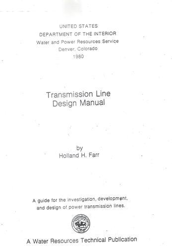 Transmission line design manual