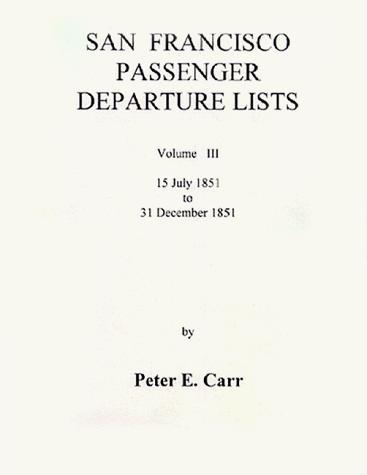 San Francisco passenger departure lists