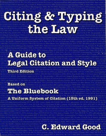 Citing & typing the law