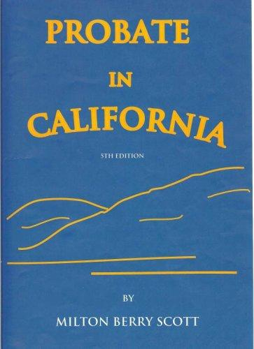 Download Probate in California
