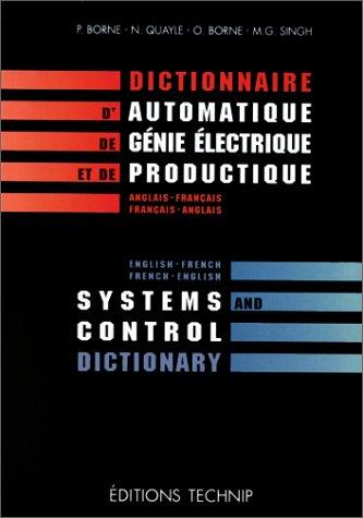 Systems and Control Dictionary English-French French-English