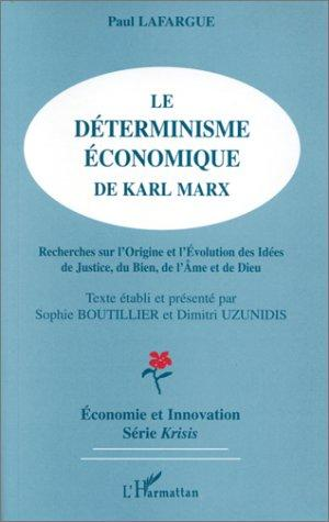 Download Le déterminisme économique de Karl Marx