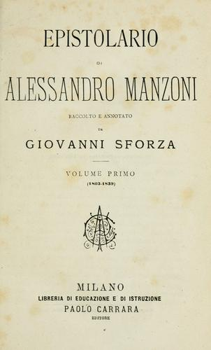 Epistolario di Alessandro Manzoni