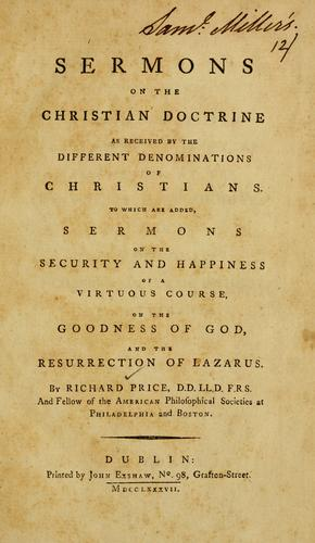 Download Sermons on the Christian doctrine as received by the different denominations of Christians