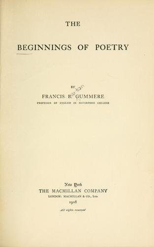 The beginnings of poetry