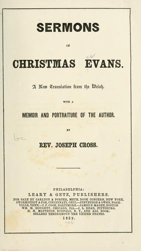 Download Sermons of Christmas Evans.