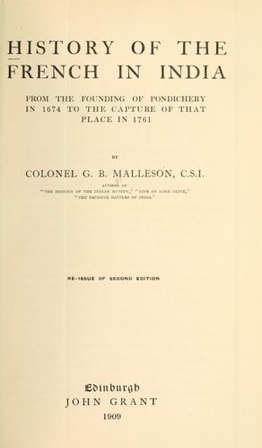 Download History of the French in India