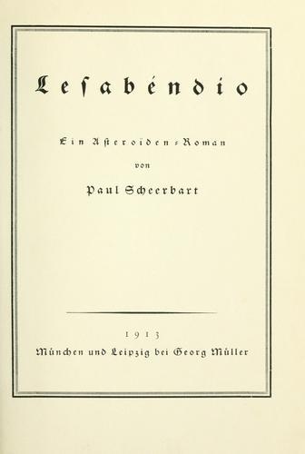 Lesabéndio, ein Asteroïden-Roman.