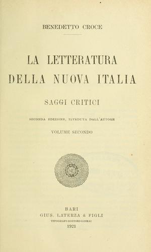 La letteratura della nuova Italia