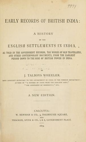 Download Early records of British India