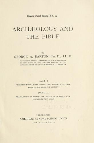 Download Archæology and the Bible