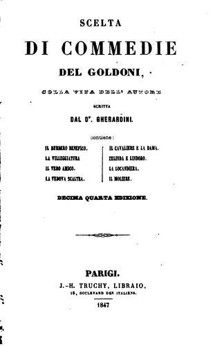 Scelta di commedie del Goldoni