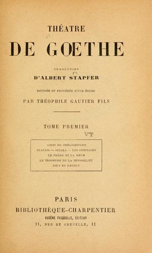 Download Théatre de Goethe