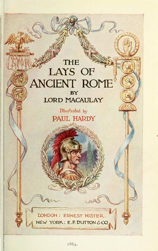 Download The Lays of ancient Rome.