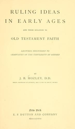 Download Ruling ideas in early ages and their relation to Old Testament faith