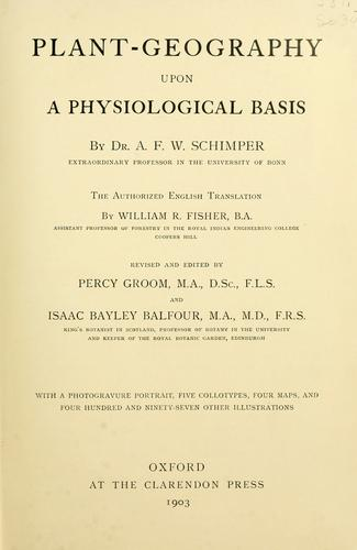 Download Plant-geography upon a physiological basis.