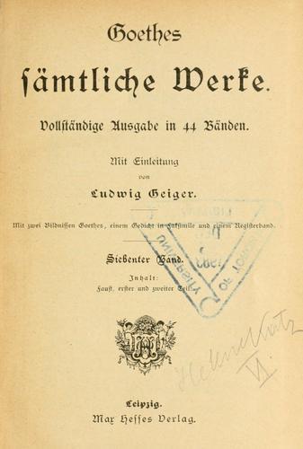 Goethes sämtliche Werke