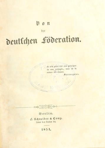 Download Von der deutschen Föderation.