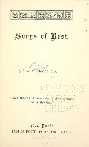 Songs of rest.