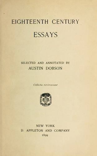 Eighteenth century essays