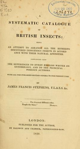 Download A systematic catalogue of British insects