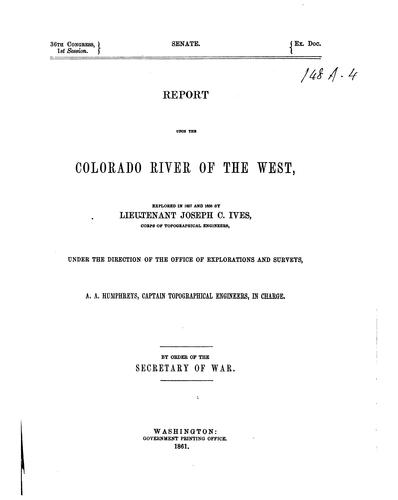 Download Report upon the Colorado River of the West