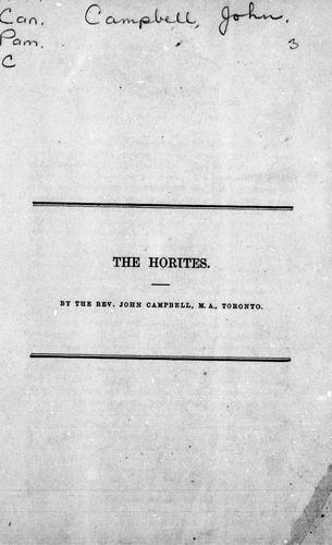 The Horites