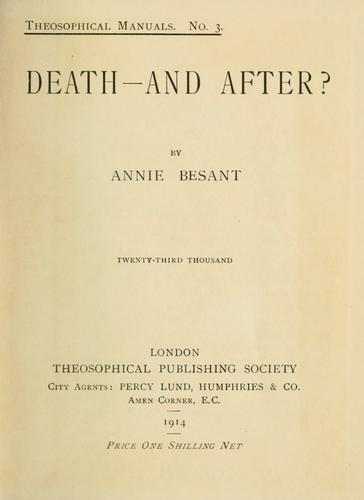 Death–and after