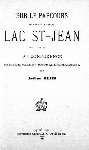 Download Sur le parcours du chemin de fer du Lac St.-Jean
