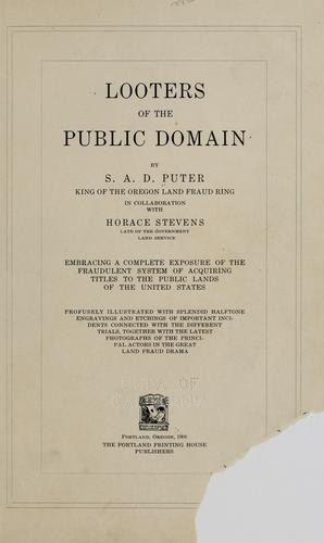 Download Looters of the public domain