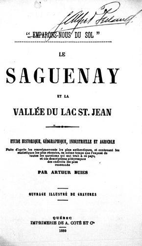 Download Le Saguenay et la vallée du Lac Saint-Jean