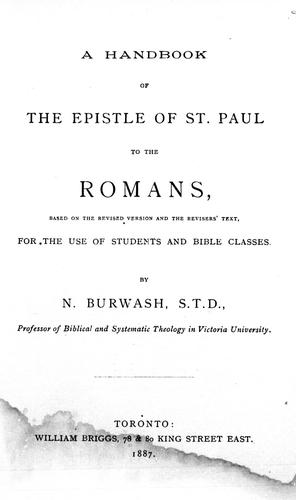 Download A handbook of the Epistle of St. Paul to the Romans