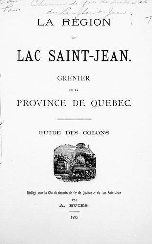 Download La région du Lac Saint-Jean