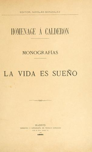 Homenage á Calderon.  Monografías