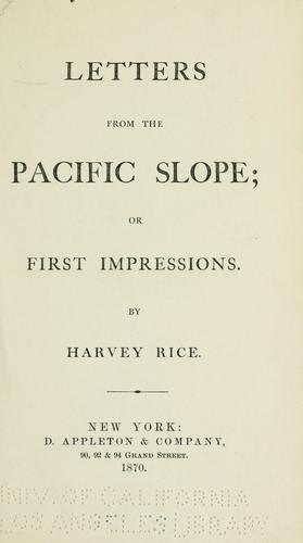 Download Letters from the Pacific slope