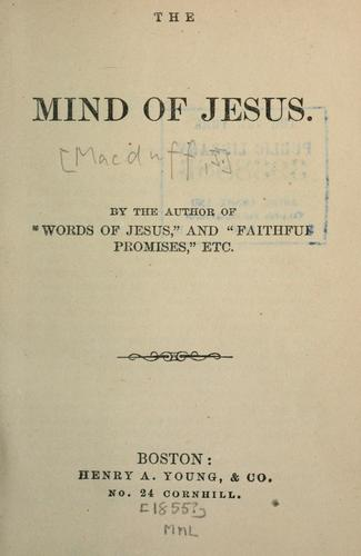 The mind of Jesus.