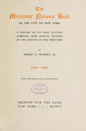Download The Merchants' National Bank of the City of New York